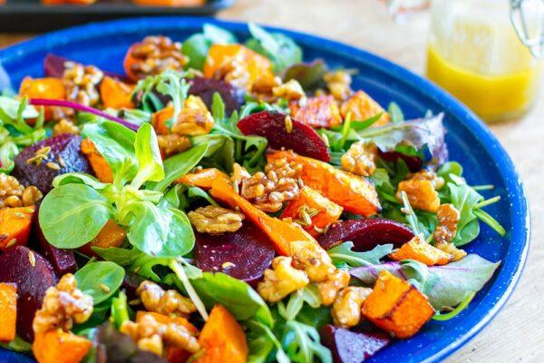 Roast Pumpkin Beetroot Salad