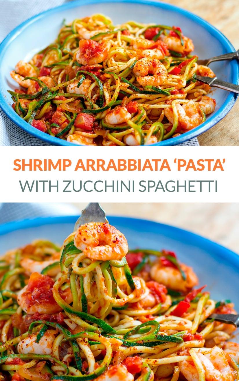 Prawn Zucchini Pasta Arrabbiata