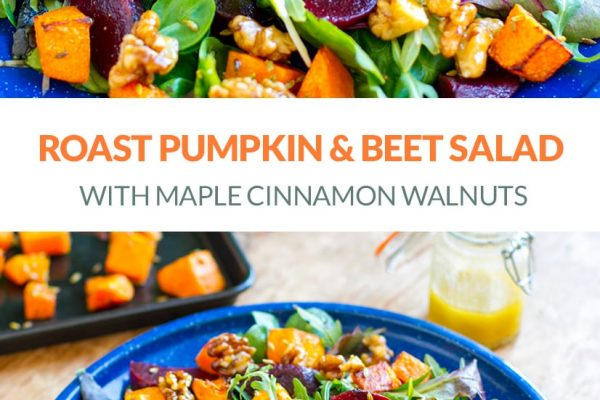 Roast Pumpkin & Beet Salad With Maple Walnuts