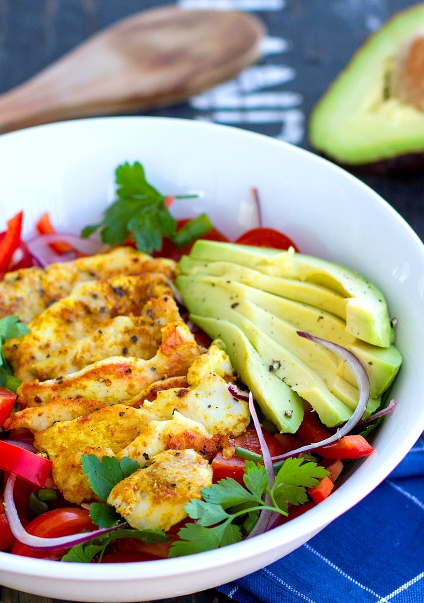 Paleo Chicken Avocado Salad (Whole30, Keto, Low-Carb, Gluten-free)