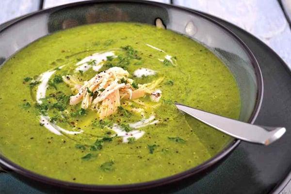 Paleo spinach soup