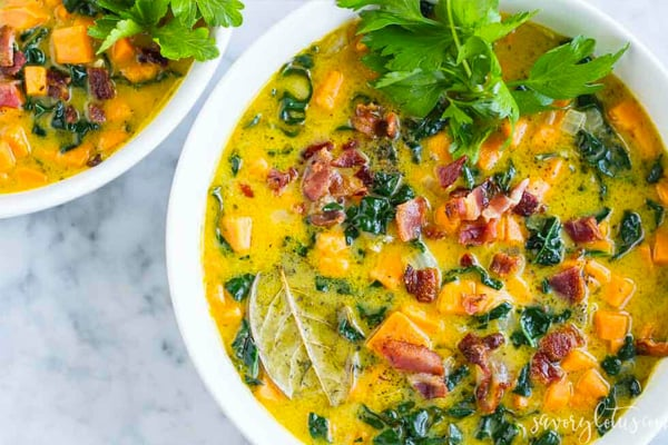 Sweet Potato Stew With bacon