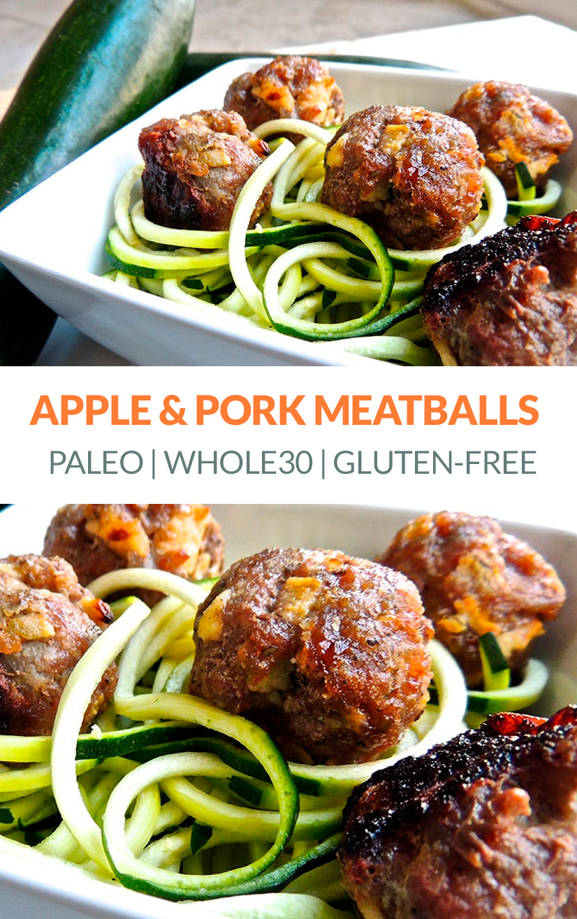 Baked Pork & Apple Meatballs