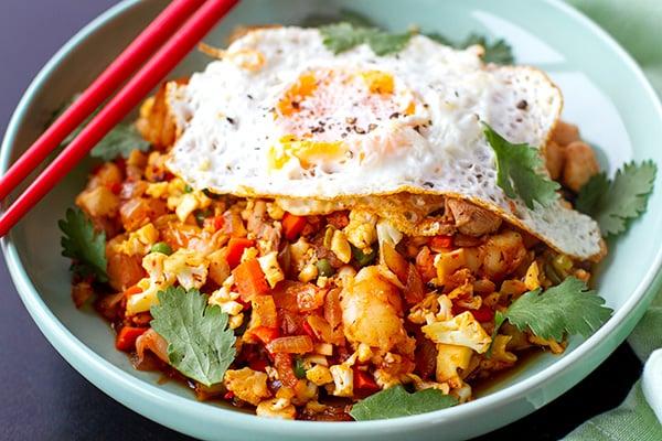 Paleo Fried Cauliflower Rice - Nasi Goreng