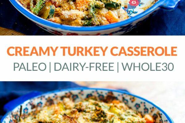 Creamy Paleo Turkey & Broccoli Casserole (Divan Style