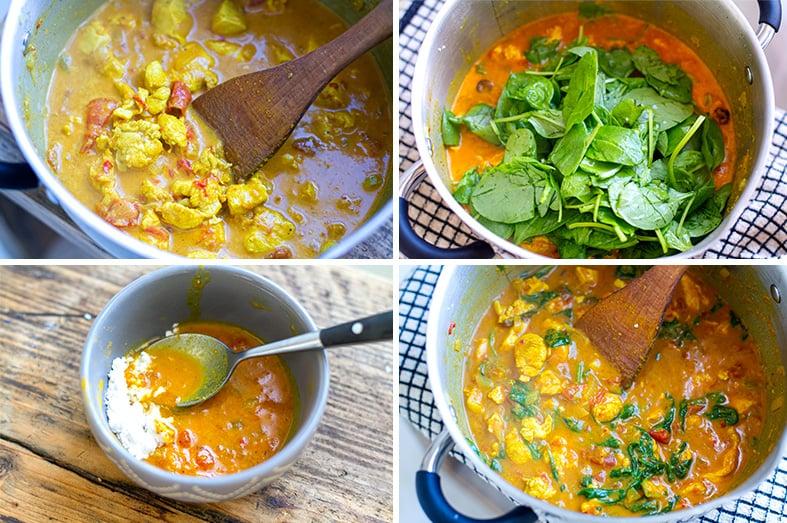 Making chicken tikka masala step 2