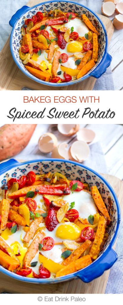 Spiced Sweet Potato Egg Bake - Paleo, Gluten-Free, Dairy-Free, Vegetarian.