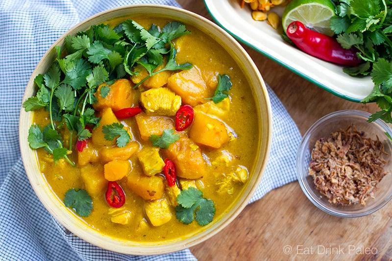 pumpkin chicken curry