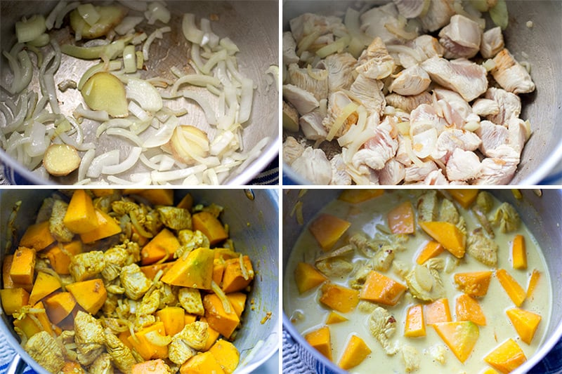 kaboch squash curry recipe
