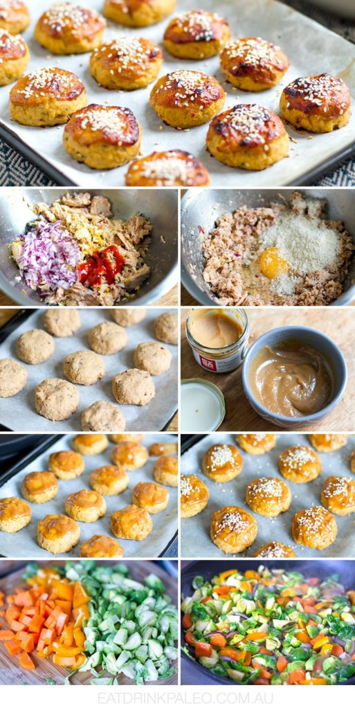 Baked Salmon Balls With Miso Honey Glaze - Step by step