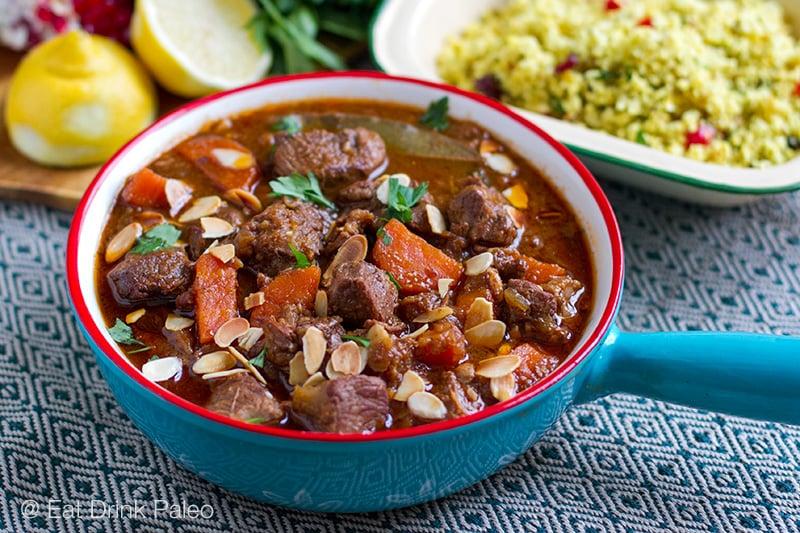 Moroccan lamb casserole