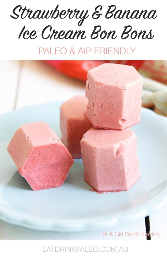 Paleo Strawberry Ice Cream Bon Bons (AIP)