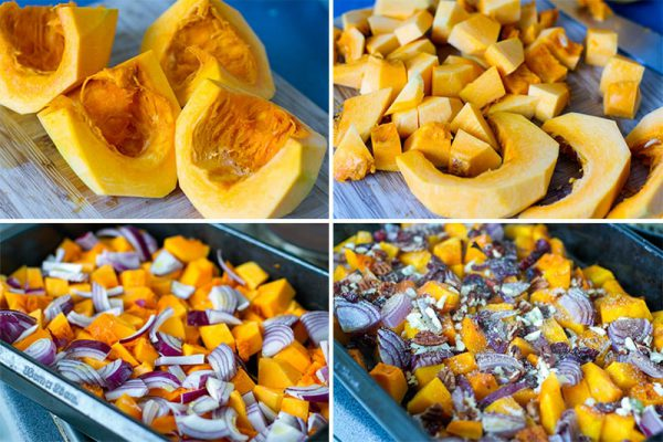 How to make roasted Kabocha squash with cranberries and pecans