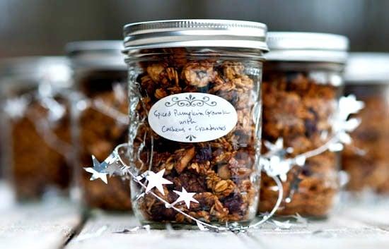 Homemade granola for Christmas gift