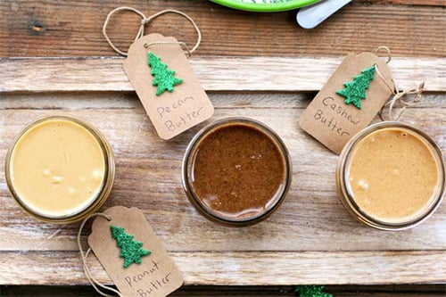 Homemade nut butter for Christmas gifts