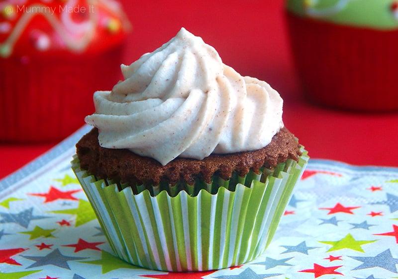Paleo Gingerbread Cupcakes (Nut-free, gluten-free)