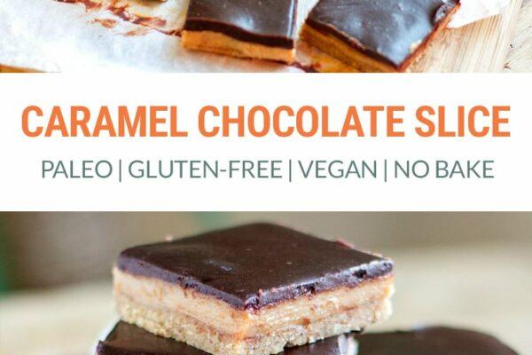 No-Bake Paleo Chocolate Caramel Slice