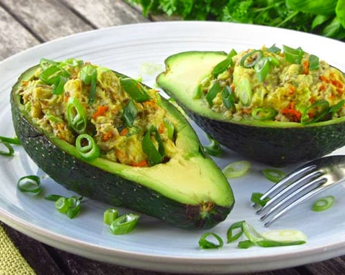 Sardine stuffed avocados