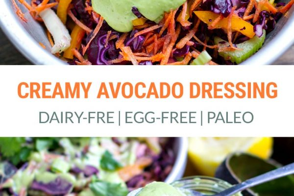 Creamy Avocado Dressing (Dairy-free, Egg-Free) | Paleo, Vegan, Keto