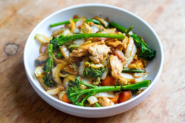 Cabbage Chicken Stir Fry