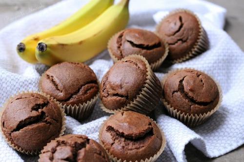 Cassava flour chocolate banana muffins
