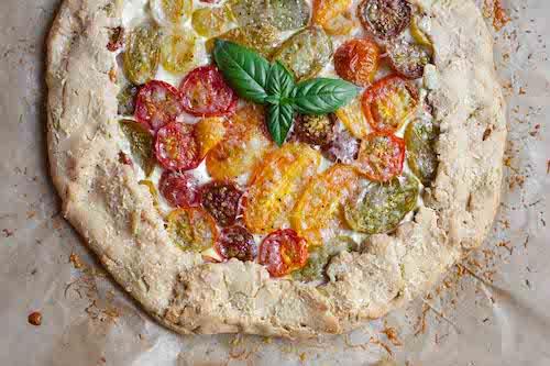 Cassava flour tomato galette