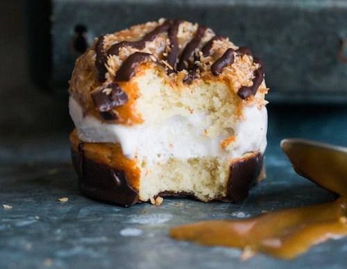 Tapioca flour recipes: donut ice cream sandwich