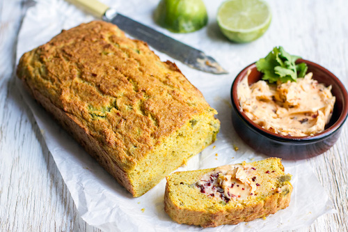 Coconut jalapeno bread using tapioca or cassava flour