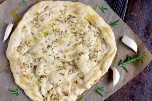 Rosemary garlic flat bread with tapioca flour