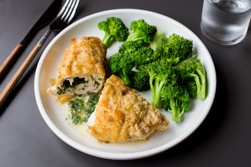 Chicken Kiev with tapioca flour