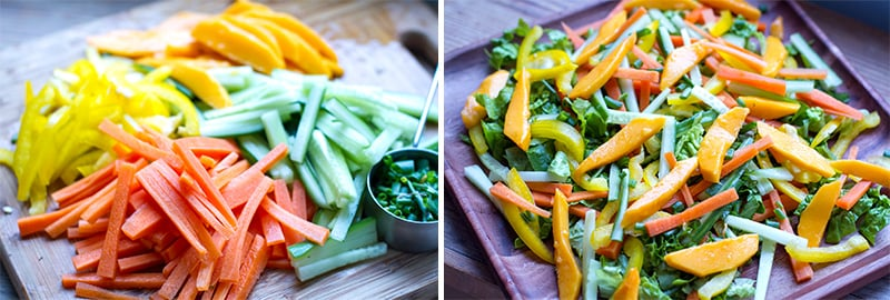 Asian mango cucumber salad