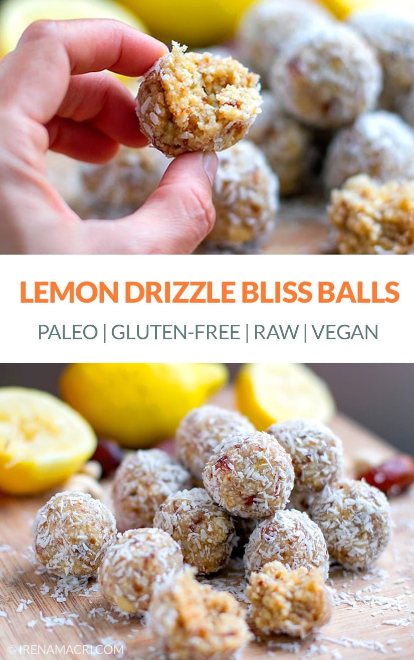 Lemon Bliss Balls (vegan, raw, paleo, gluten-free)