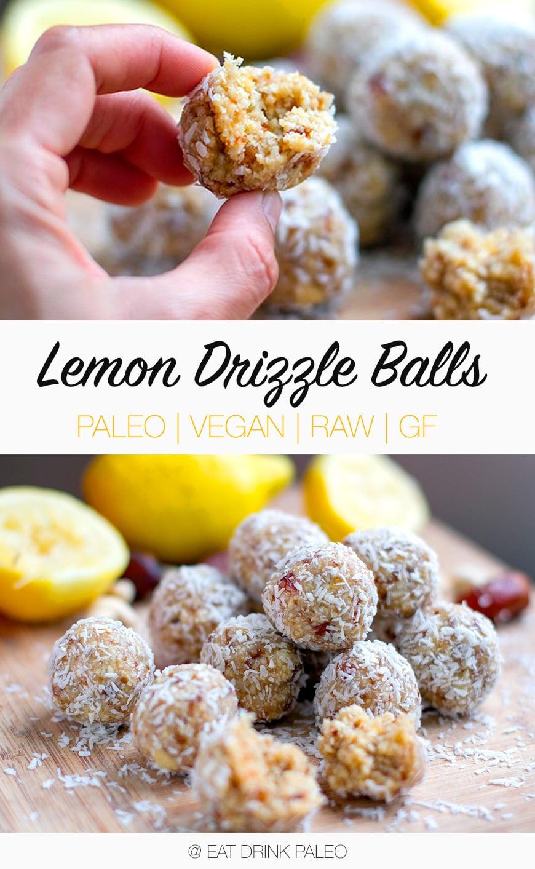 Lemon Drizzle Bliss Balls (Paleo, Vegan, Raw, Gluten-Free)