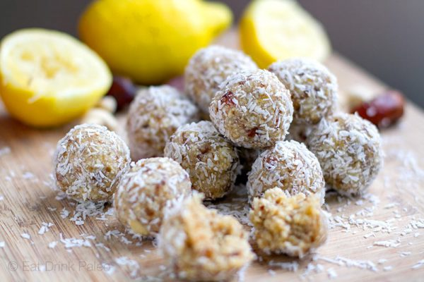 Lemon Drizzle Paleo Energy Bliss Balls
