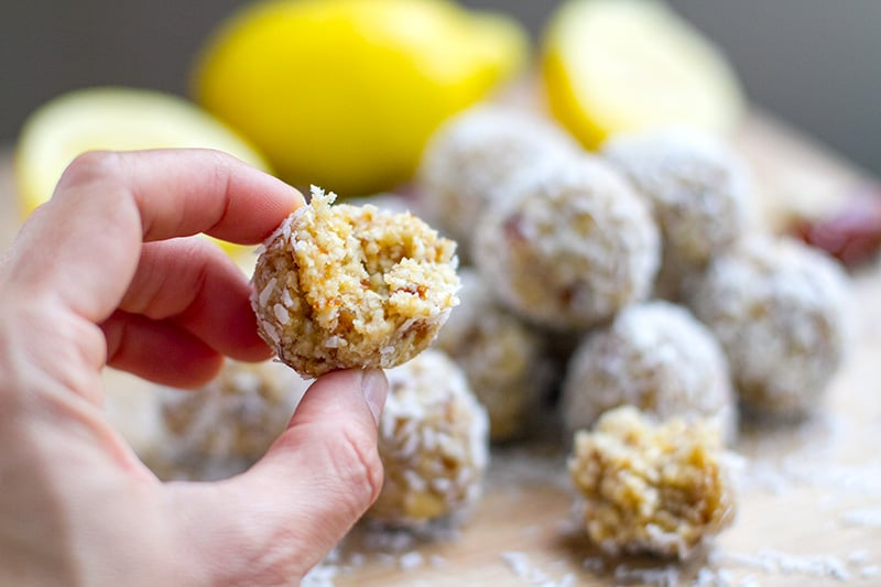 Lemon Drizzle Paleo Energy Bliss Balls