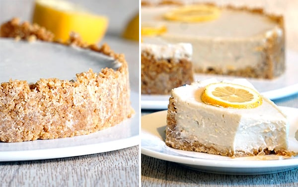Paleo Lemon Cauliflower Cheesecake