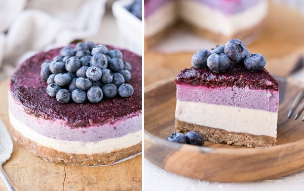 Paleo blueberry cheesecake