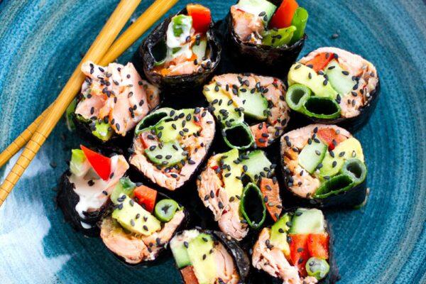 Paleo Sushi Rolls as wraps