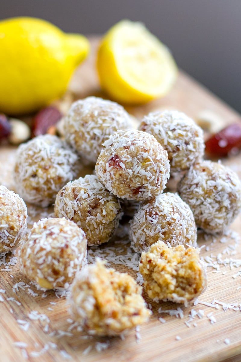 Lemon Bliss Balls (Paleo, Vegan, Raw, Gluten-Free)