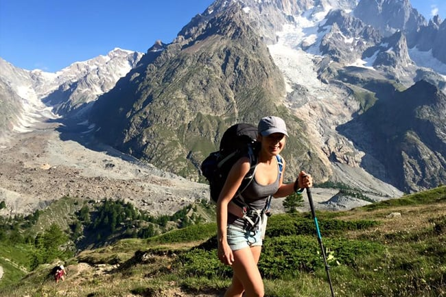 Paleo diet hiking