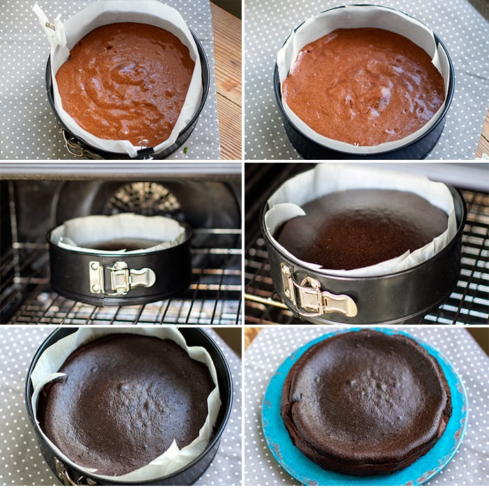 How to make a simple pale chocolate cake - Step 3