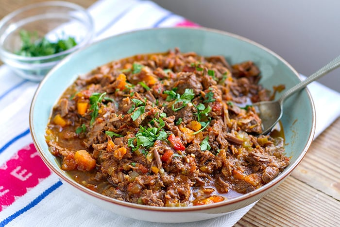 Instant Pot Shredded Beef Ragu