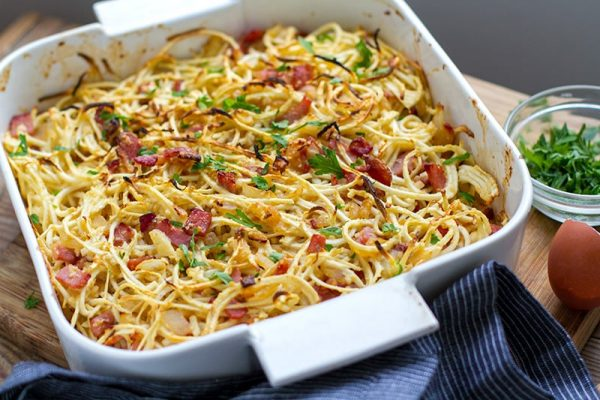 Paleo Carbonara With Spiralized Celeriac