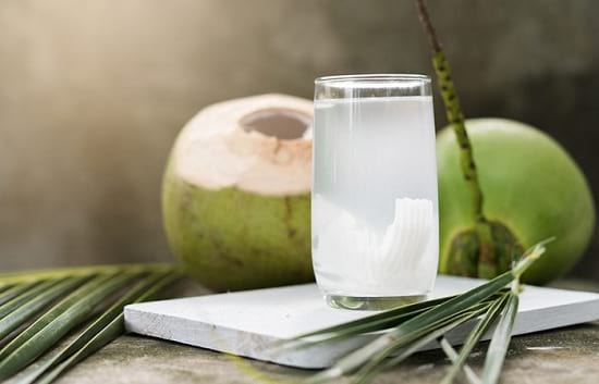 coconut water for cold and water to stay hydrated