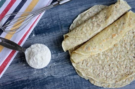 paleo homemade tortilla wraps