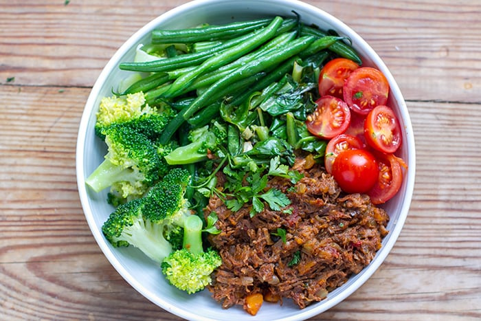 Shredded Beef Ragu With Green Vegetables