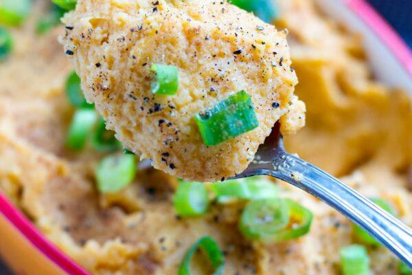 Sweet Potato & Cauliflower Mash Recipe (Vegan, Whole30, Paleo)
