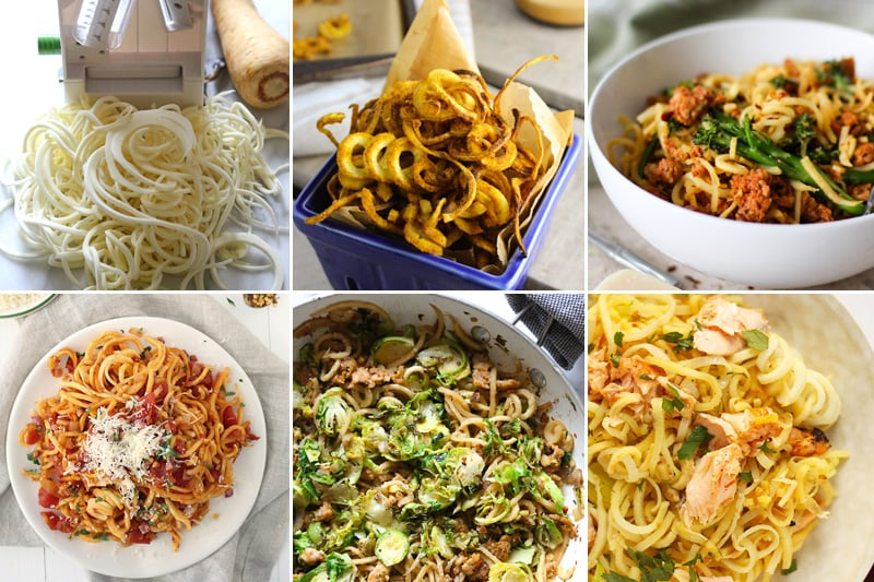 Spiralized parsnip noodles recipes