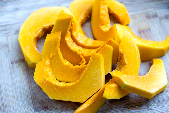 Roasted Japanese pumpkin squash
