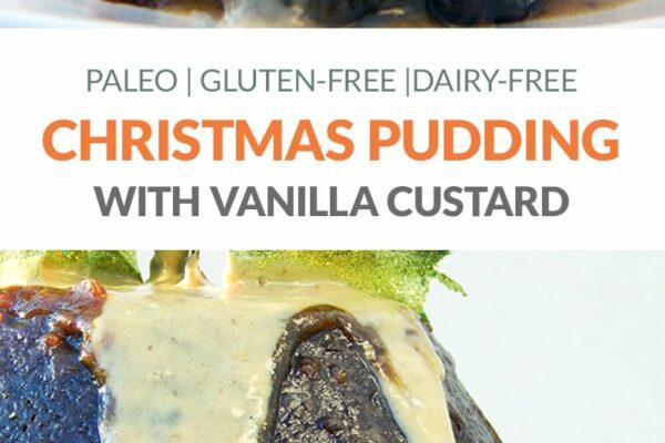 Paleo Christmas Pudding With Custard